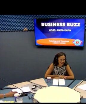 Chelsea Flynn and Vanessa Gowen being interviewed about #hirelocalcayman on Radio Cayman, February 2021.